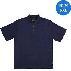 Ben Hogan Big Men's Performance Short Sleeve Solid Polo, Size: 2XL, Blue