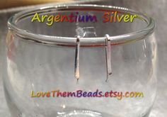20 gauge Argentium Silver Bar Stud Earrings, Ear Crawler, Ear Climber, Tiny Staple, Minimalist, Simple Earring, Sterling Silver Earrings - pinned by pin4etsy.com