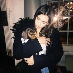 Dua Lipa  (and dog)