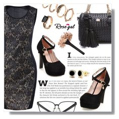 """""""Lace Trim Tank Bodycon Dress - Black"""" by fashion-pol ❤ liked on Polyvore featuring Trish McEvoy"""