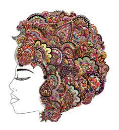 her hair - les fleur edition  by Bianca Green Art Print