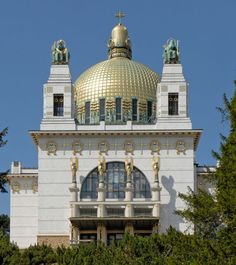 Kirche am Steinhof, also known as the Church of St. Leopold, the Roman Catholic oratory of the Steinhof Psychiatric Hospital in Vienna, Austria, designed by Otto Wagner, completed in 1907.