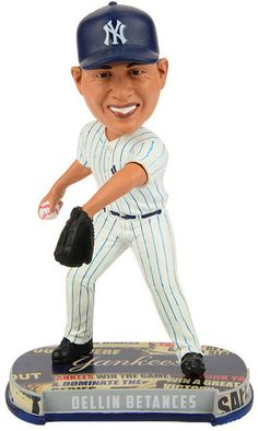 6581e65705a Forever Collectibles Dellin Betances New York Yankees Headline Bobblehead -  White Navy