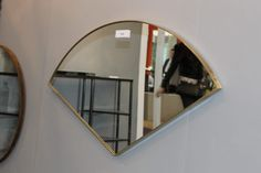 Here is our Bespoke Fan shaped Mirror. Made with 30 mm x solid brass frame. Get in touch with us for more information about this bespoke, contemporary mirror. We can arrange delivery if you are not close to our showroom. Traditional Mirrors, Convex Mirror, Solid Brass, Bespoke, Contemporary Mirrors, Bath, Shapes, Showroom, Glass
