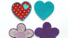 Felt and fabric heart and flower shapes | Fabric and felt brooches | Tesco Living