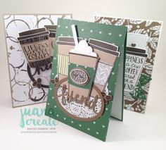 Juana Ambida | Coffee Café Bundle Card Kit | #CoffeeCafebundle, #handmadecard, #stampinup, #juanacreate