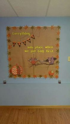 Beautiful fall bulletin board