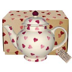 Pink Hearts 4 Mug Teapot Boxed 2017