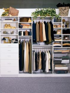 closet storage solutions... We could use a few of these in our closet!