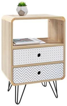 Bassinet, Nightstand, New Homes, Storage, Interior, Table, Furniture, Home Decor, Retro Design