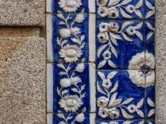 I like how bright the blue is and how crisp the white is. These tiles remind me of Wedgewood, of my Finnish heritage and of the Greek side of my family/Greece itself Tiles, Tile Patterns, Tiles Texture, Mosaic Glass, Beautiful Tile, Tile Art, Turkish Tiles, Blue And White, Dream Tile