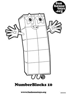 Numberblocks 2 printable coloring page.j | Numberblocks ...