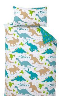 Dinosaur Duvet Cover Set, http://www.littlewoods.com/ladybird-dinosaur-duvet-cover-set/1339741383.prd - aqua white lime