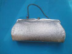 Silver Lame Clutch by heydarlin on Etsy, $14.00