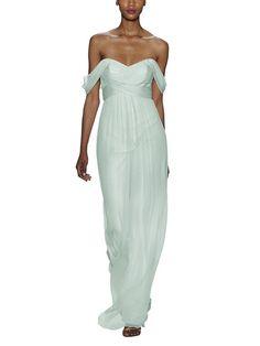 Amsale G851C Blue Bridesmaid Dresses, Strapless Dress, Chiffon, Sequins, Silk, Formal Dresses, Lace, Wedding, Fashion