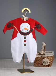 Christmas Baby Autumn Winter Modelling Rompers Embroidered Snowman Winter Wear Children Warm Jumpsuit Polar Fleece 1PCS-in Girls from Apparel & Accessories on Aliexpress.com