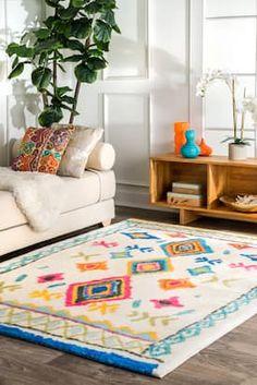 Rugs USA Multi Watercolor Soft Souma Kids rug - Bohemian Rectangle 7' x 9'