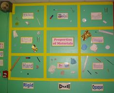 Properties of Materials Year 3 – Classroom Displays Primary Science, Science Topics, Primary Teaching, Science Lessons, Teaching Science, Science Activities, Teaching Ideas, Science Ideas, Science Projects