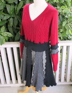 Cashmere Recycled Sweater Dress Upcycled Clothing by ThankfulRose