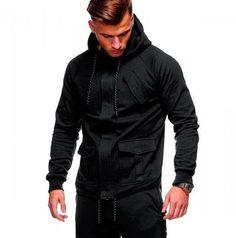 Men's Clothing Brand 2018 Hoodie Hip-hop Multi Zipper Letter Print Hoodies Men Fashion Tracksuit Male Sweatshirt Hoody Mens Purpose Tour Good Heat Preservation