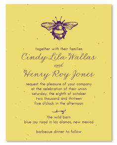 82 Best Honeybee Theme Wedding Invites Images Wedding Reception