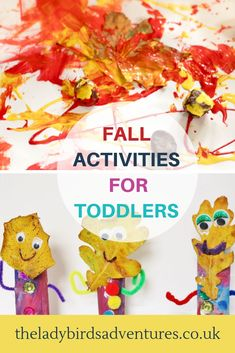 Toddler activities for Fall. Fall sensory play and Fall crafts for toddlers. Fall Arts And Crafts, Easy Fall Crafts, Fall Crafts For Kids, Arts And Crafts Movement, Preschool Art, Preschool Activities, Nature Activities, Toddler Play, Toddler Crafts