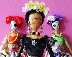 Frida Kahlo Art Doll, Mexican Artist, Collectors Doll