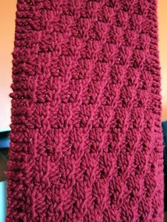 Essential knitting for the busy or impatient knitter, Easy Textured Scarf is a free pattern that works for both men and women.