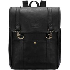 SheIn(sheinside) Black Buckle PU Backpacks