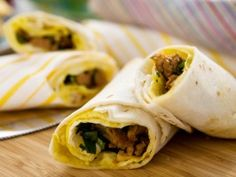 Rolled Omelet Burrito from CookingChannelTV.com  *I can't wait to try this!!