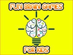 10 Fun Brain Games for Kids - help develop kids' problem solving and cognitive skills Free Brain Games, Fun Brain, Free Games For Kids, Math For Kids, School Kids, Summer School, Reading 2014, Math Skills, Problem Solving