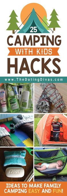 Camping Hacks for Camping with Kids The ultimate guide for camping activities with kids! Tons of tips for camping with kids, things to do while camping, and hacks for camping with toddlers. Camping Hacks With Kids, Camping Info, Camping Bedarf, Camping Activities For Kids, Camping Checklist, Camping Essentials, Outdoor Camping, Camping Tricks, Camping Guide