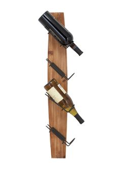 Wood Metal Wall Wine Rack - Natural
