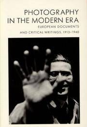 Photography in the Modern Era: European Documents and Critical Writings, 1913-1940 by Editor-Christopher Phillips - Paperback - 1989-10-01 - from Ergodebooks (SKU: SONG0893814075)