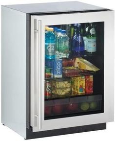 """3024RGLS00 24"""" Modular 3000 Series Star K Compact Refrigerator with 4.9 cu. ft. Capacity Right Hinge Convection Cooling Interior Light and OLED Display in Stainless Steel"""