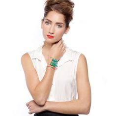 Gemma Redux Odette Turquoise Cuff @Sarah Nasafi Grayce #laylagrayce #turqouise