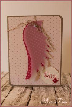 Baby-Karte in rosa