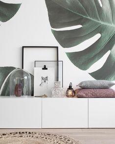 Wallpaper ♡ Ik heb bijna in elke ruimte in dit huis wel een muurtje behangen! Eigenlijk baal ik een beetje dat er geen muren meer over…
