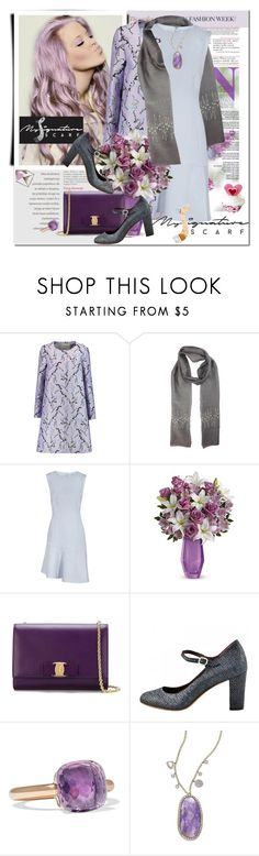"""Mother's Day with My Signature Scarf"" by astromeria ❤ liked on Polyvore featuring Mary Katrantzou, Salvatore Ferragamo, Pomellato and Meira T"