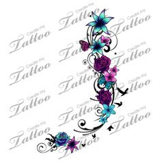 Calf  foot tattoo cover up with roses/flowers design