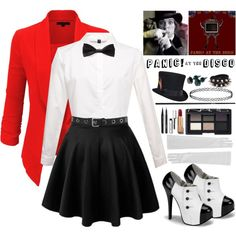 Panic! at the Disco: I write sins not tragedies by motionlessinrave on Polyvore featuring LE3NO, Miss Selfridge, Forever 21, NARS Cosmetics, Bobbi Brown Cosmetics, Chanel, Marc Jacobs and MAC Cosmetics