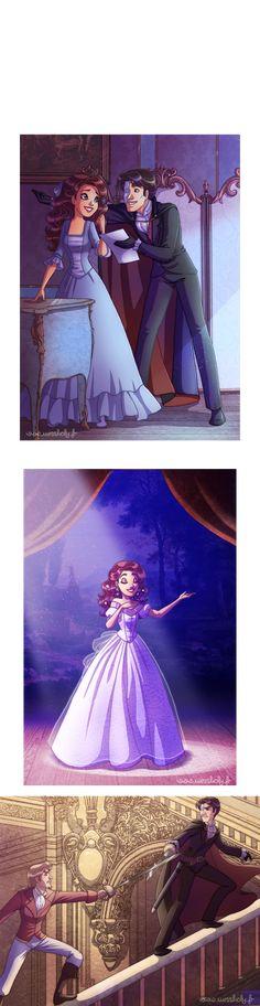 Phantom of the Opera Disney style by HollyBell.deviantart.com on @DeviantArt