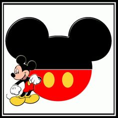 mickey mouse face outline - Google Search
