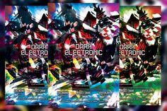 Dark Electronic Flyer. Flyer Templates