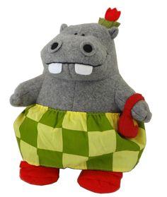 "Too cute! George and 11"" Martha Hippo Doll Plush Toy James Marshall Books Felt + Clothes | eBay"
