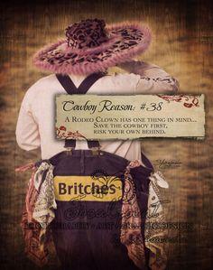 Cowboy Reason - 38 Rodeo Clown... 11x14 Art Print by Shawnda Eva