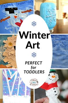 These winter art projects for kids are so simple, even toddlers can make them proudly! But they're beautiful enough that preschool and kindergarten kids will love them, too. There's painting projects, sensory projects, and even a few crafts! Winter Crafts For Toddlers, Winter Activities For Kids, Creative Activities For Kids, Kids Learning Activities, Preschool Winter, Winter Kids, Winter Art Projects, Arts And Crafts Projects, Projects For Kids