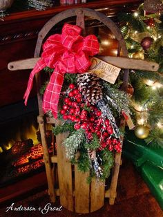 anderson + grant: Decorating a Vintage Sled for Christmas