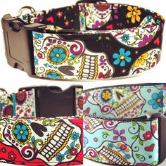 Sugar skulls on full color blast! Your pup needs at least one of these badass beauties!  shop link in bio...you know the drill. #YoDiggityByKimberly #follow #dogcollars #doglover #puppy #dog #creative #handmade #petlovers #dogfashion #rescuedog #collar #adoptdontshop #indieshop #makersmovement #dogstyle #shopsmall #doglover #happydog #dogbowtie #fashiondog #aplacetolovedogs #etsy #dogsofinstagram #dogsmeetdesign #etsyfinds #dogstagram #doggystyle #doggylove #dogslife #petstagram by…