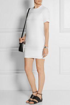 Alexander Wang cotton-terry mini dress for $795 available at Net-A-Porter #luxury #vegetarian #dress #vegetariandress #luxurydress
